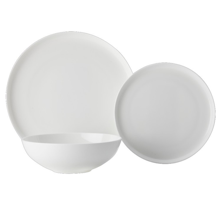 Casa Domani Pearlesque Coupe 18 Piece Dinner Set