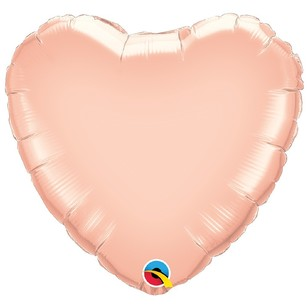 Qualatex Foil E Metallic Heart Balloon