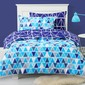 Ombre Blu Nordic Dream Boys Quilt Cover Set  Blue Single