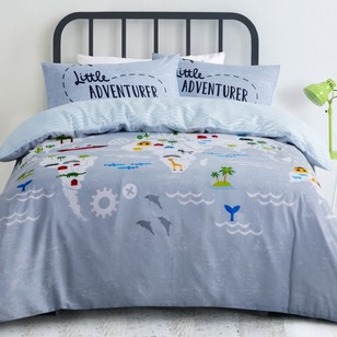 Kids House World Adventure Quilt Cover Set
