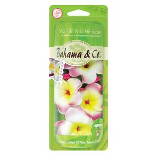 Bahamas Hibiscus Flower Necklace Freshener