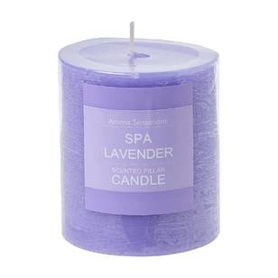 Living Space Spa Lavender Pillar Candle - Everyday Bargain
