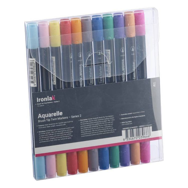 Ironlak Series 2 Aquarelle Brush Marker Set