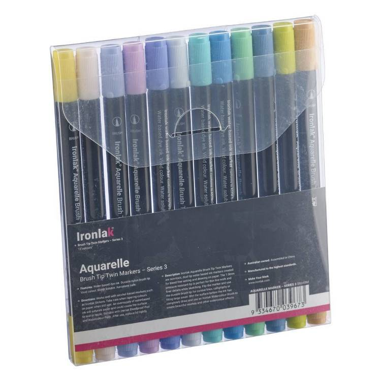 Ironlak Series 3 Aquarelle Brush Marker Set