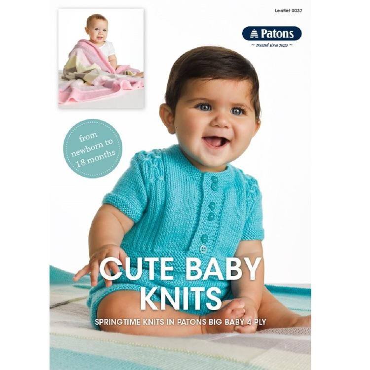 Patons Cute Baby Knits Pattern Book 0037