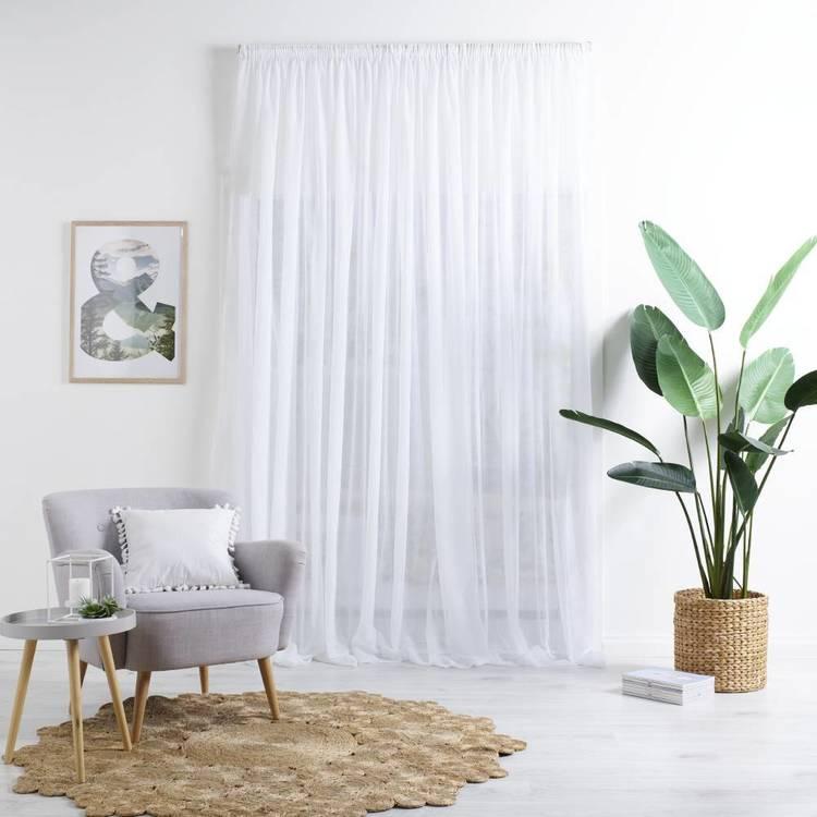 Caprice Oxford 280 cm Sheer Pencil Pleat Cut, Hem & Hang Curtain Fabric