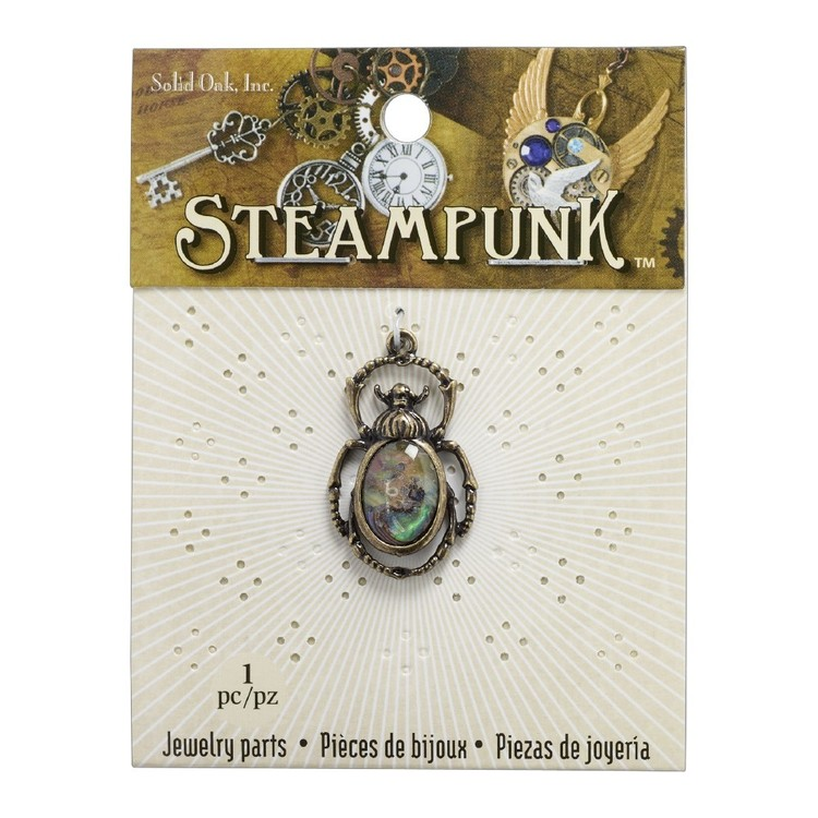 Steampunk Beetle With Paua Shell