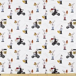 Le Chef Print Uncoated Curtain Fabric