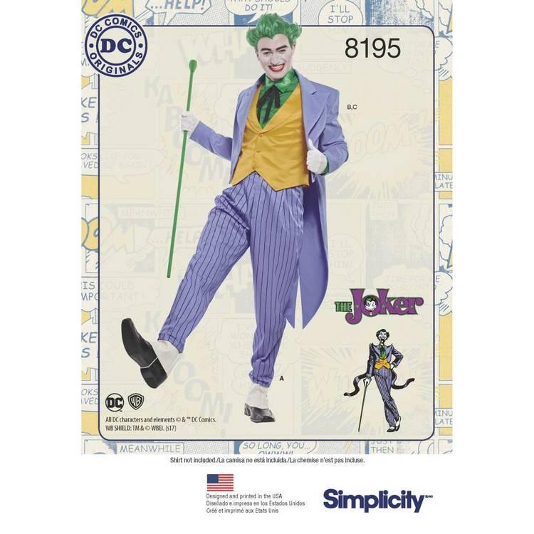 Simplicity Pattern 8195 D.C. Comics Joker Costume