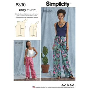 Simplicity Pattern 8390 One-Piece Pants