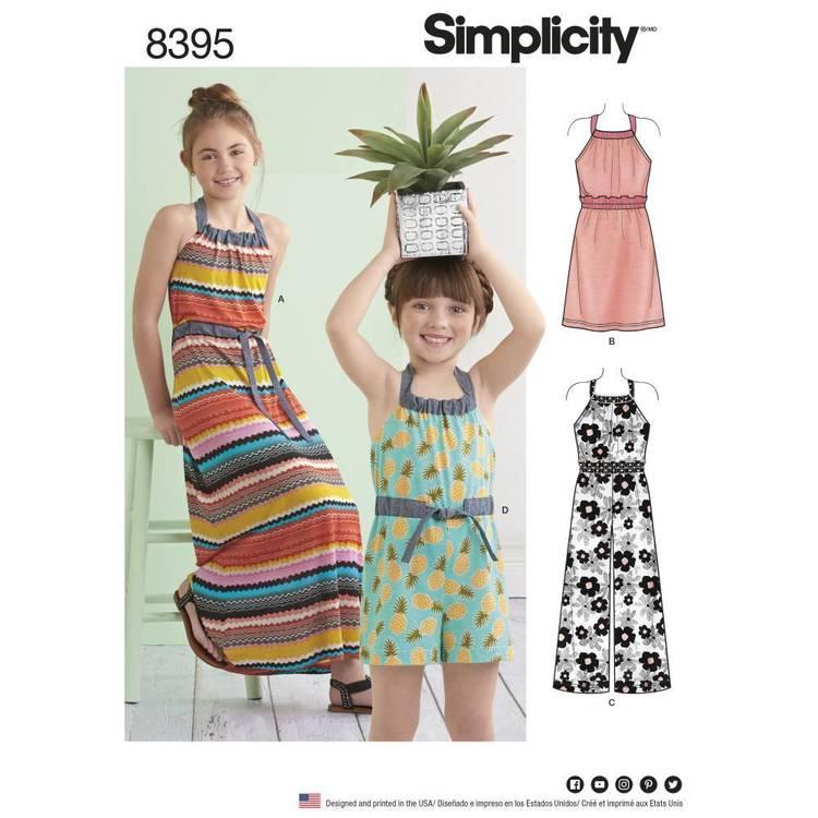 Simplicity Pattern 8395 Halter Dress/Romper