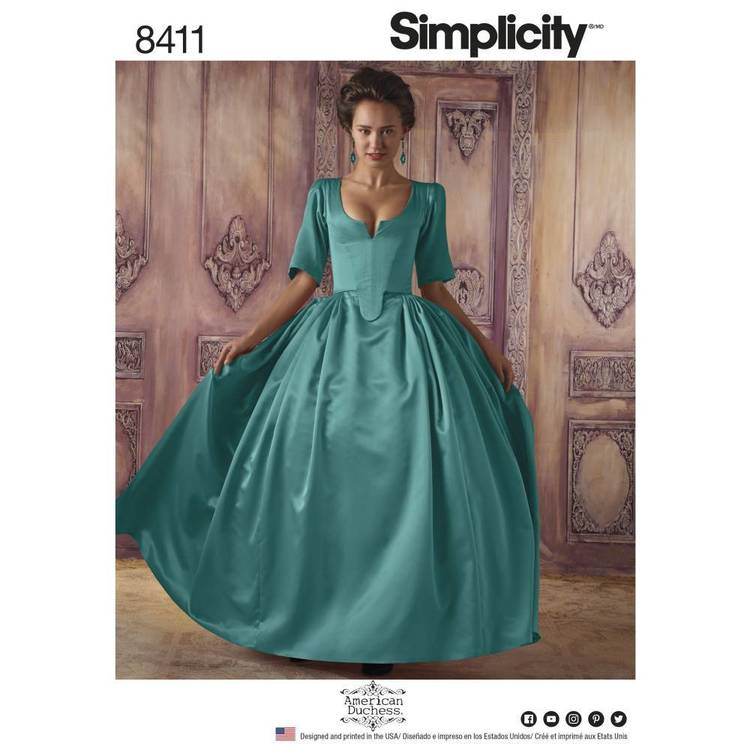 Simplicity Pattern 8411 18th Century Costume