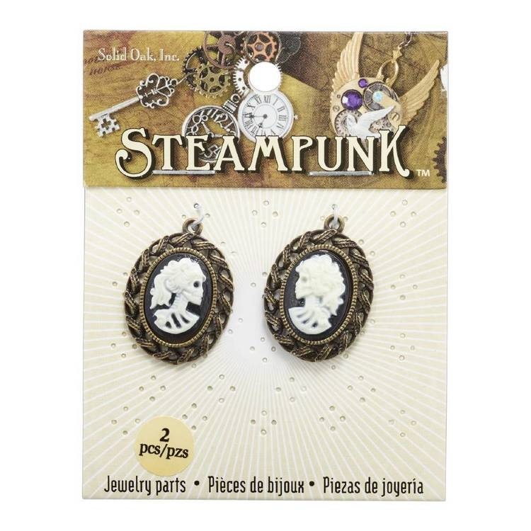 Steampunk SM Skull Cameos 2 Pack