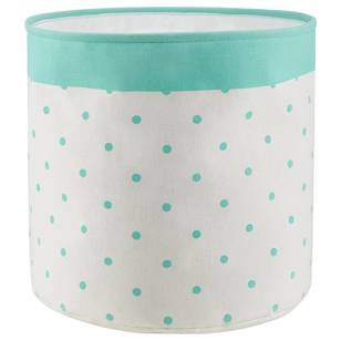 Bouclair Shiny Polka Dot Basket