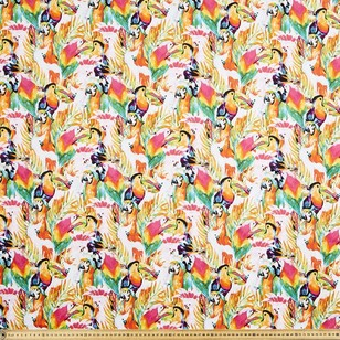 Tropical Birds Printed Poplin