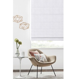 Caprice Ascot Sunout Roman Blind White