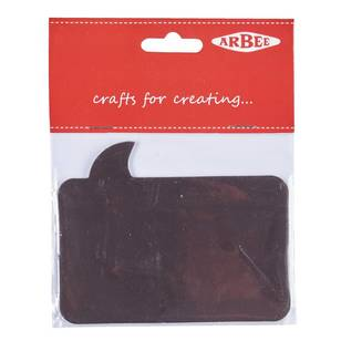 Arbee Black Rectangle Adhesive Magnet