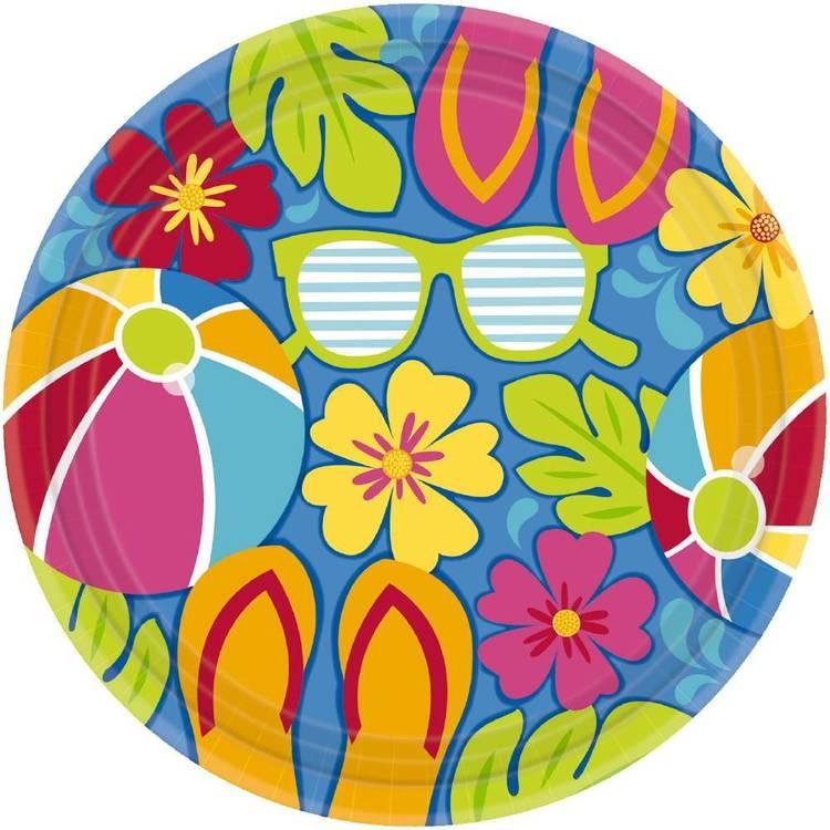 Amscan Summer Splash Round Plate