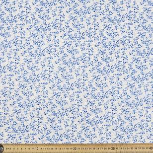 Country Garden China Blue Fabric