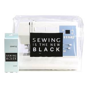 Sewing Is New Black Sewing Machine Dustcover - Everyday Bargain