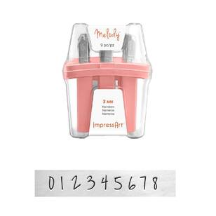 ImpressArt Melody Numbers Metal Stamps