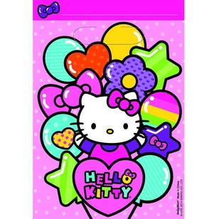 Hello Kitty Folded Loot Bags 8 Pack