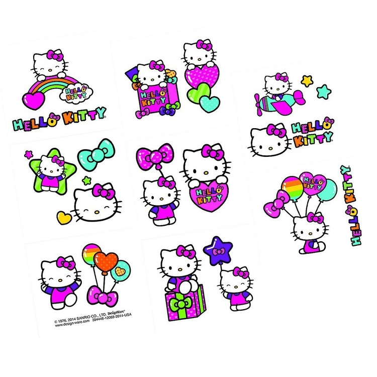 Hello Kitty Tattoo Favours 16 Pack