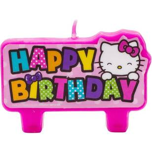Hello Kitty Birthday Candle Set 4 Pack