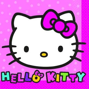 Amscan Hello Kitty Beverage Napkin 16 Pack