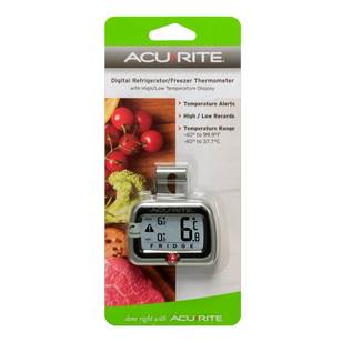 AcuRite Appetito Compact Digital Freezer Thermometer