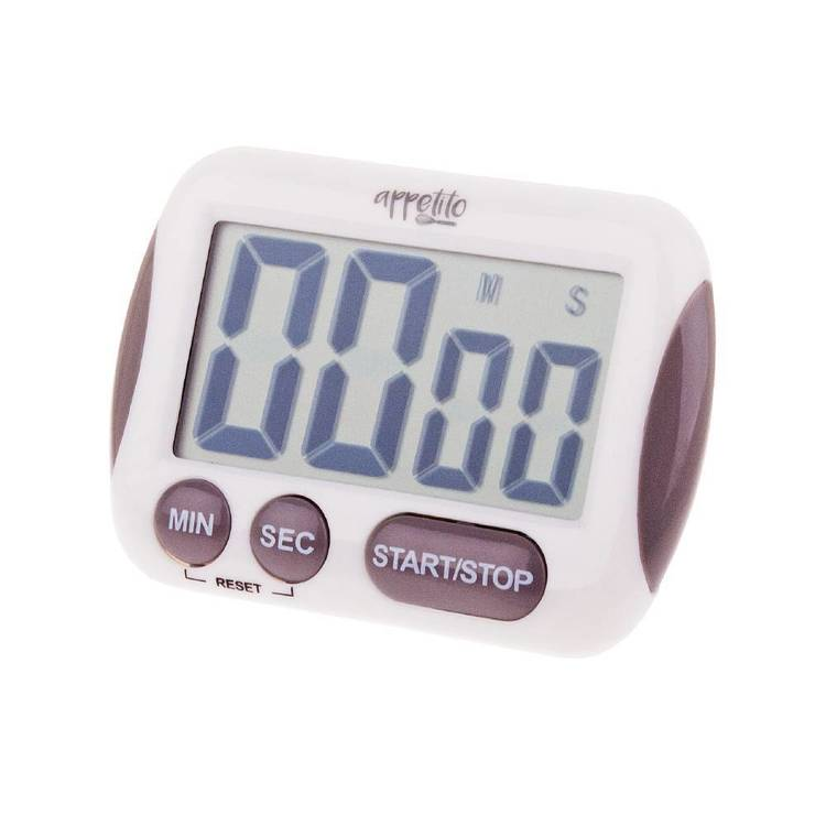 Appetito Digital Timer With Large LCD Display Cream