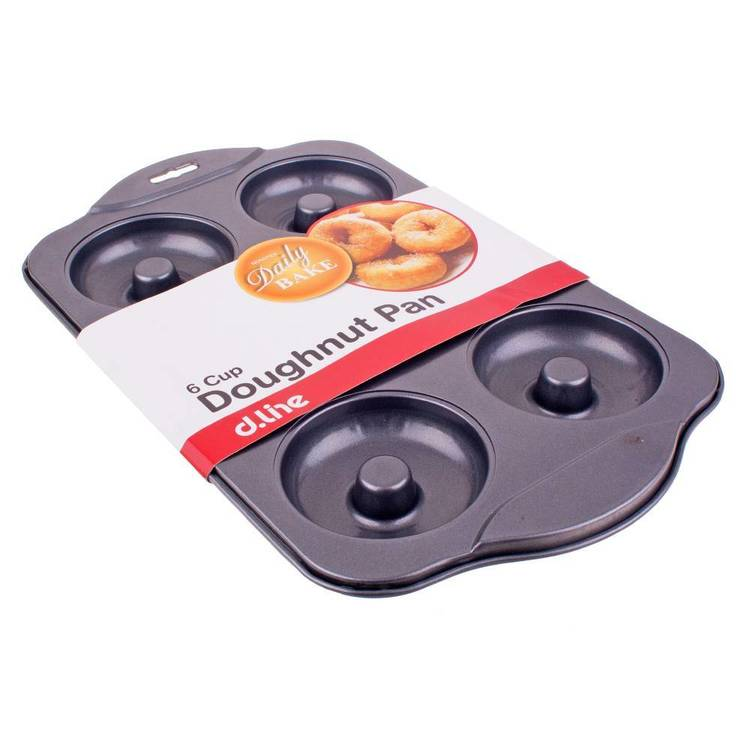 Daily Bake Edge Design Non Stick 6 Cup Doughnut Pan