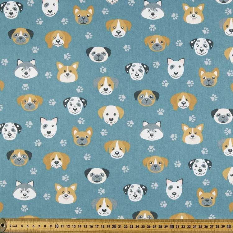 Dog Heads Montreaux Drill Fabric