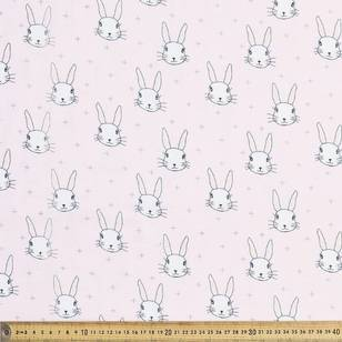 Bunny Heads Printed Flannel Fabric