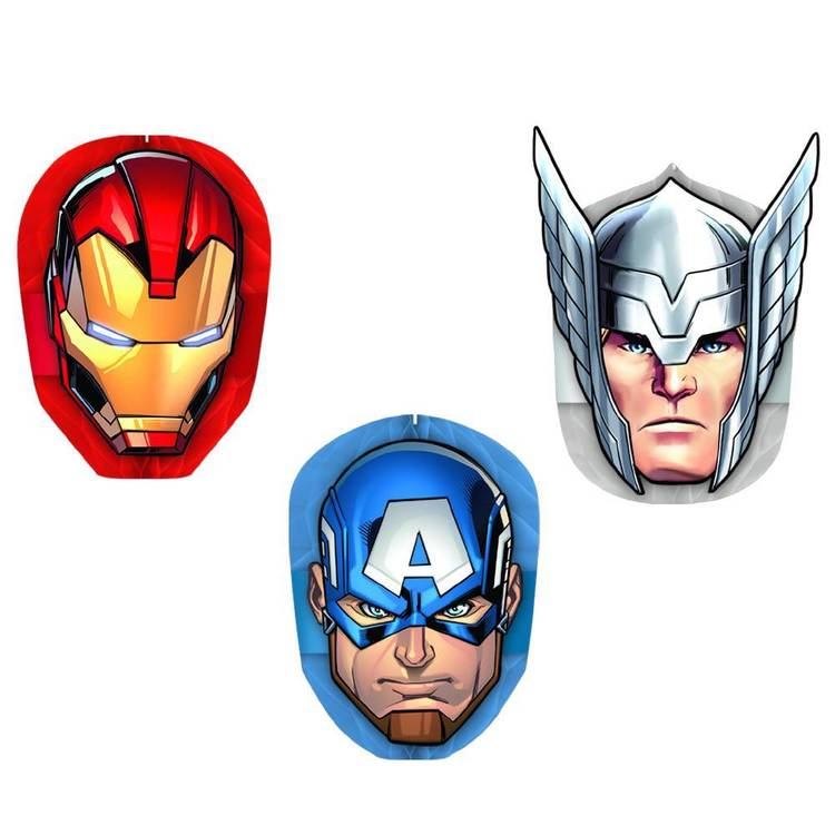 Amscan Epic Avengers Honeycomb Decorations 3 Pack