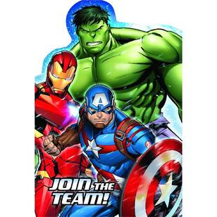 Amscan Epic Avengers Postcard Invitation 8 Pack