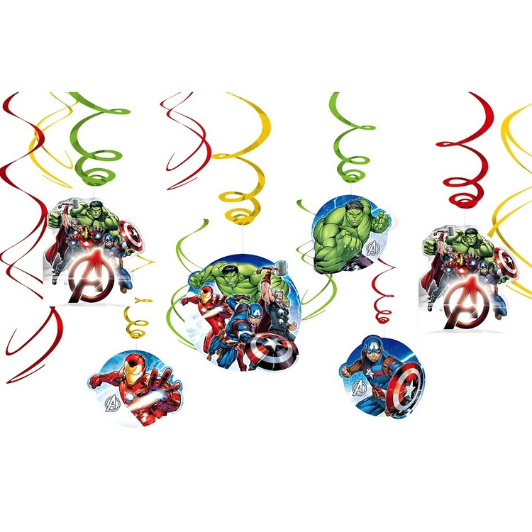 Amscan Avengers Assemble Swirl Value Pack 12 Pack
