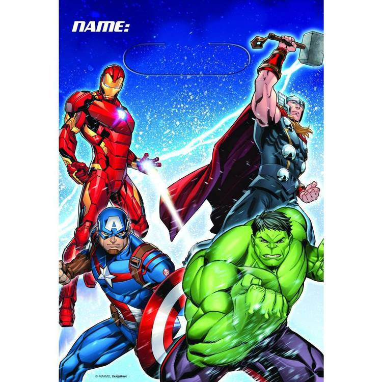 Amscan Epic Avengers Assemble Folded Loot Bags 8 Pack