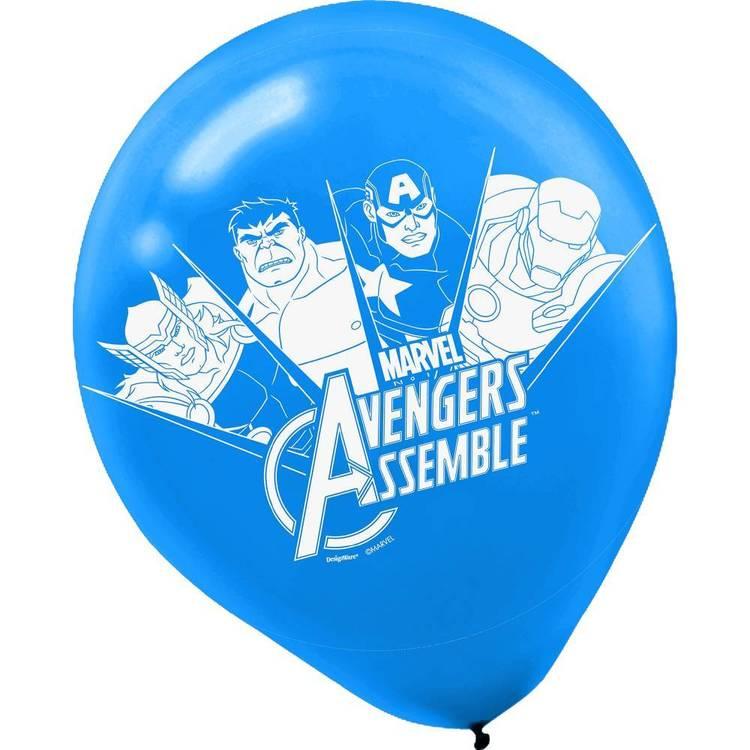 Amscan Avengers Assemble Latex Balloons 6 Pack