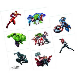 Amscan Epic Avengers Tattoo Favours 8 Pack