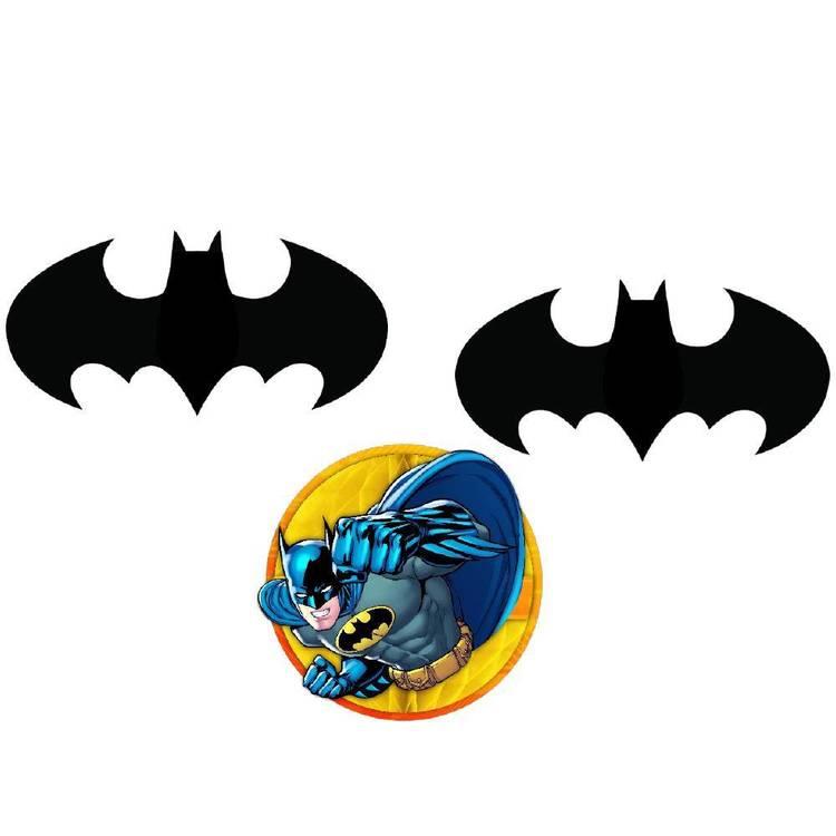 Batman Honeycomb Decorations 3 Pack