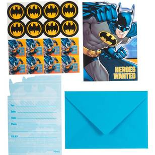 Batman Postcard Invitations 8 Pack