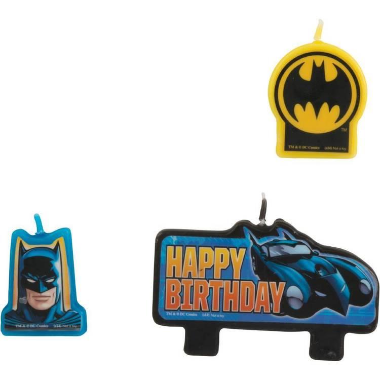 Batman Birthday Candle Set 4 Pack