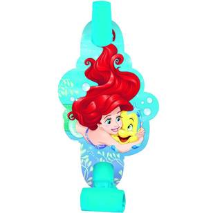 Amscan Disney Dream Big Ariel Blowouts 8 Pack