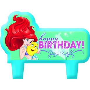 Amscan Disney Dream Big Ariel Birthday Candle Set 4 Pack