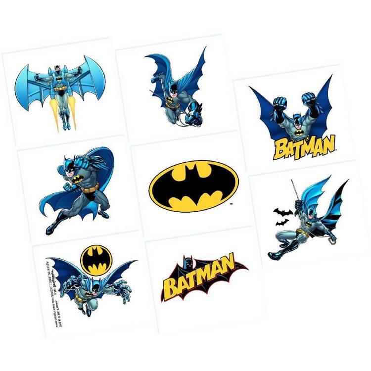 Batman Tattoo Favours 8 Pack