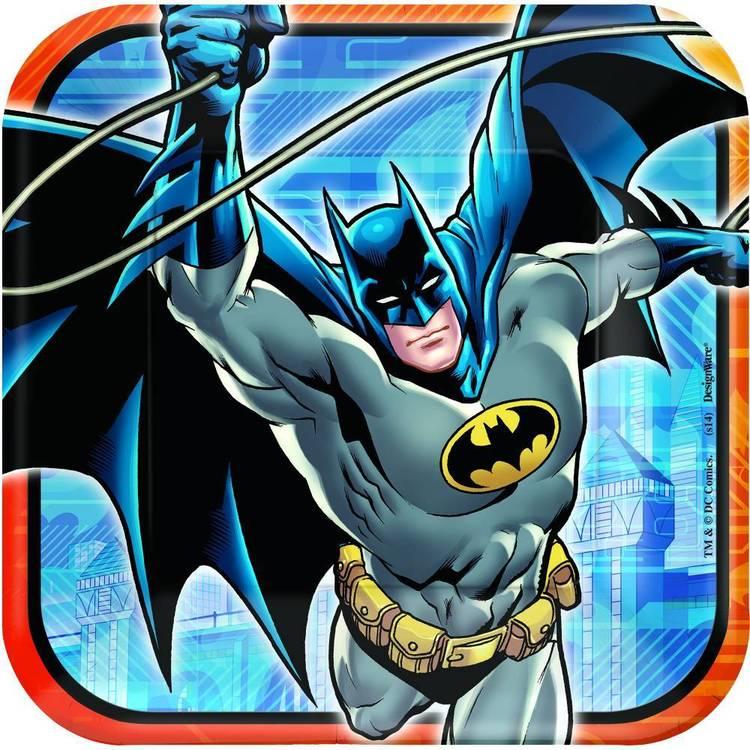 "Batman 9"" Square Plates 8 Pack"