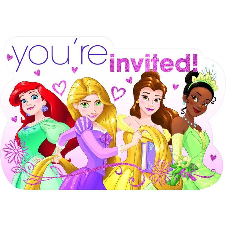 Disney Princess Dream Big Princess Postcard Invitation 8 Pack