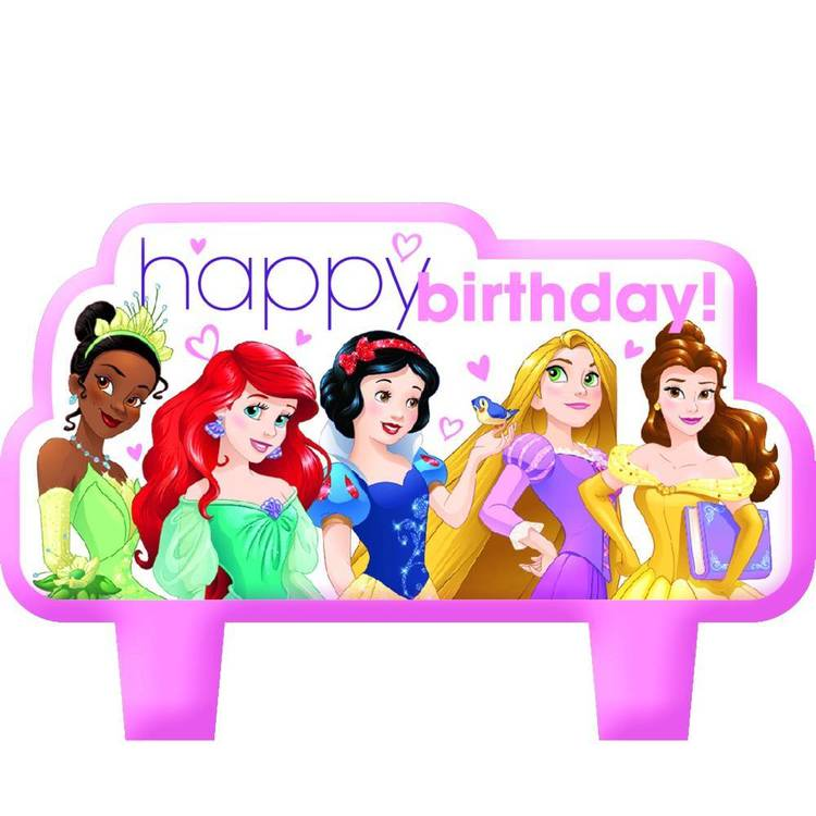 Disney Princess Birthday Candle Set 4 Pack