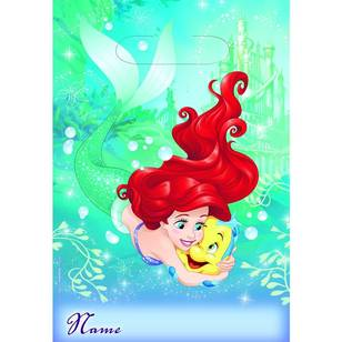 Amscan Disney Dream Big Ariel Folded Loot Bags 8 Pack